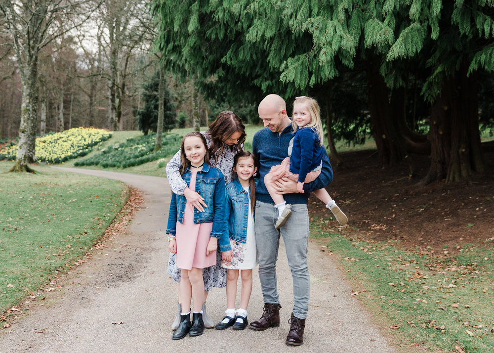 Aberdeen Family Photographer family spring session Crathes Castle