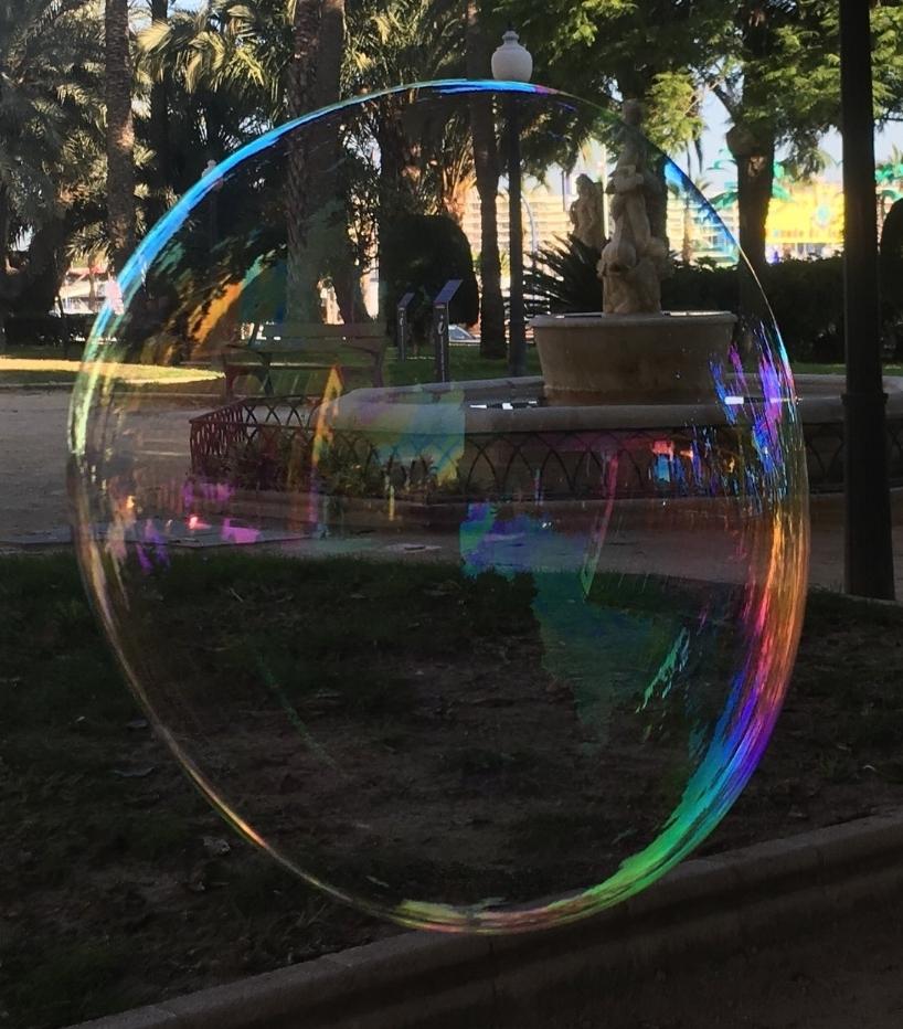 Soap Bubble in Parque de Canalejas, Alicante. Picture by Jetse de Vries