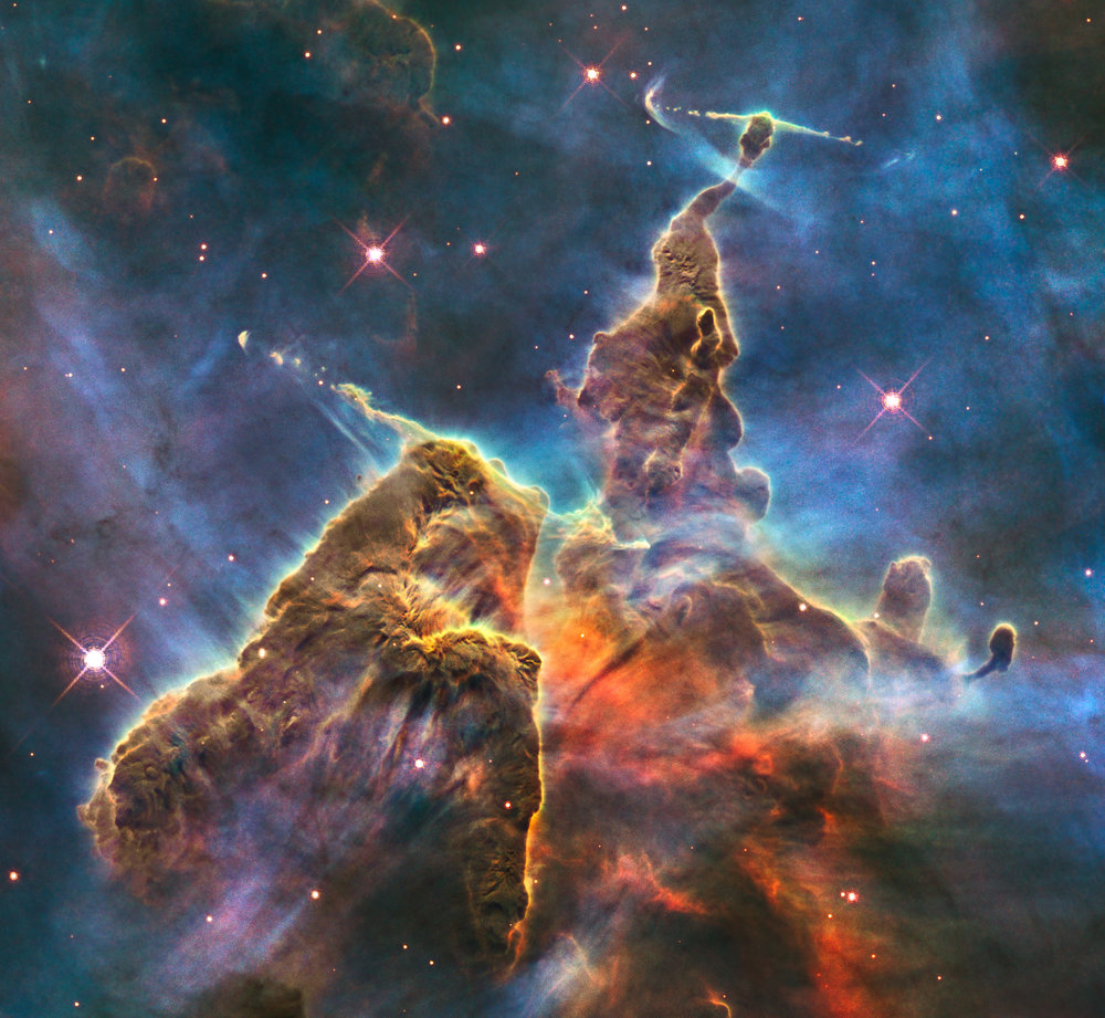 Mystic Mountain as seen from the Hubble telescope