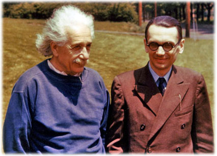 Albert Einstein and Kurt Gödel