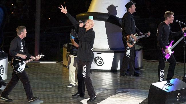 Midnight Oil at the Opening Ceremony of the 2000 Olympic Games in Sydney.