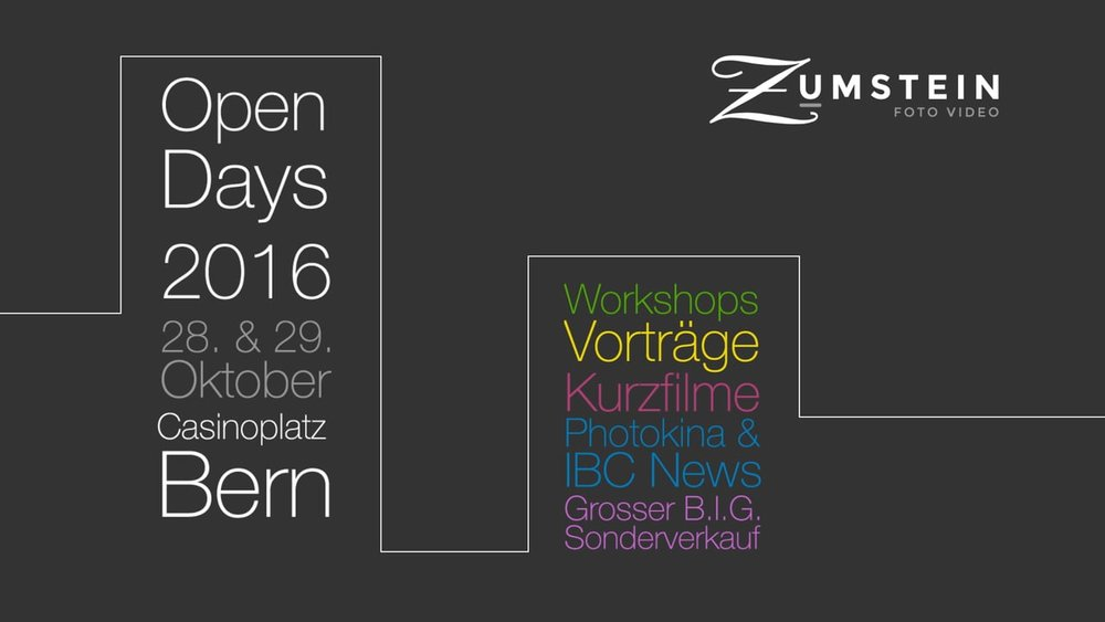 Werbespot «Foto Video Zumstein Open Days 2016»