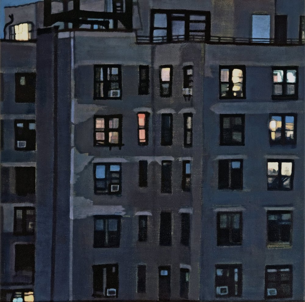 """Night Lights (Upper West Side)"", oil on linen, 20""x 20"""