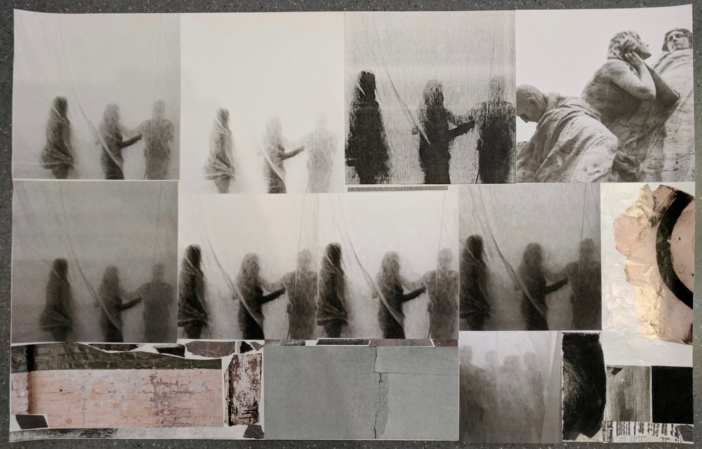 """Waiting (Sum of Days) I"", photo of temporary collage, variable dimensions"