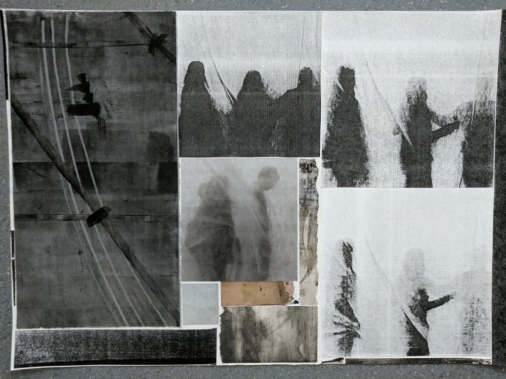 """Waiting (Sum of Days)II"", photo of temporary collage, variable dimensions"
