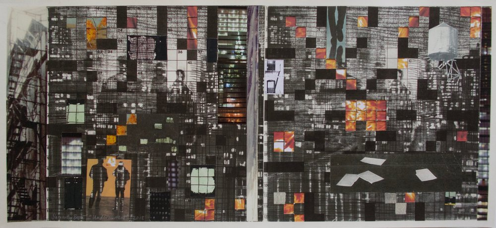 """Undercurrent"",  collage/archival pigment print, 40 x 21 in."