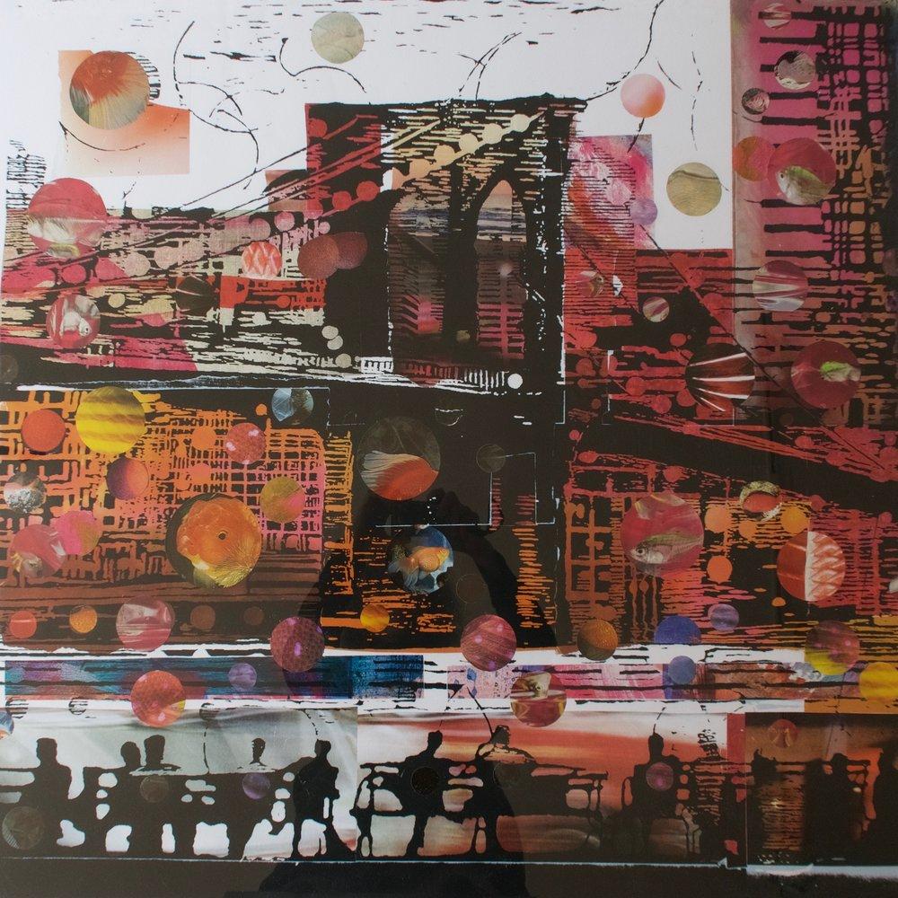 """""""Aqua Urbis"""", collage/archival pigment print, 37 x 37 in."""