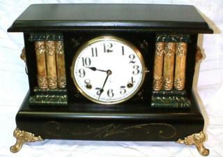 Antique gilbert mantel clocks