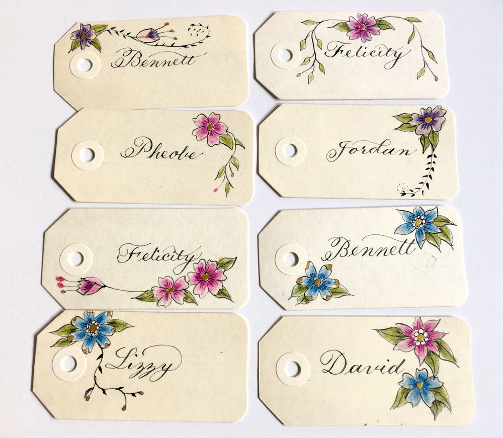 Name cards for book group