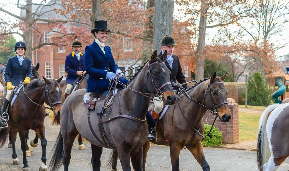 Devon and George at the 2016 Thanksgiving Meet of the Piedmont Foxhounds, Upperville, VA