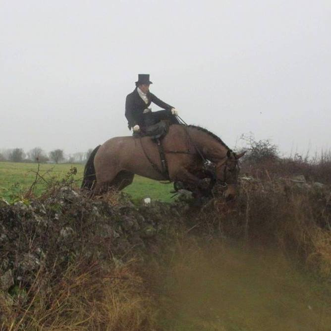 Devon on Clover with the Co. Galway Blazers