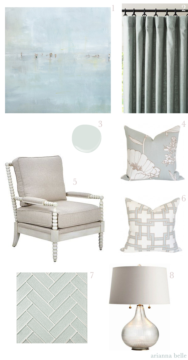 Decorating with Sea Mist and Neutrals