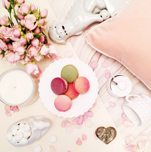 Domaine Home Valentine's Day Vignette with Arianna Belle Blush Velvet Pillow
