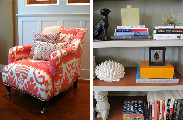 chair & bookcase styling // Design Spotlight: Nest Design Co. // Arianna Belle Blog