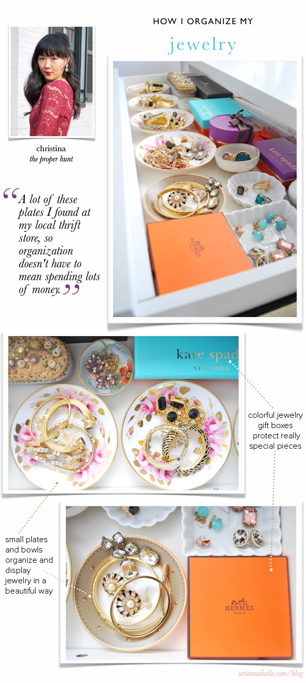 How Christina Organizes Her Jewelry // 'How I Organize' Series on Arianna Belle Blog #organization