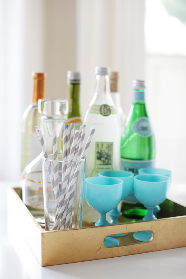 Arianna Belle Home Tour - Bar Tray // photography by Esther Sun