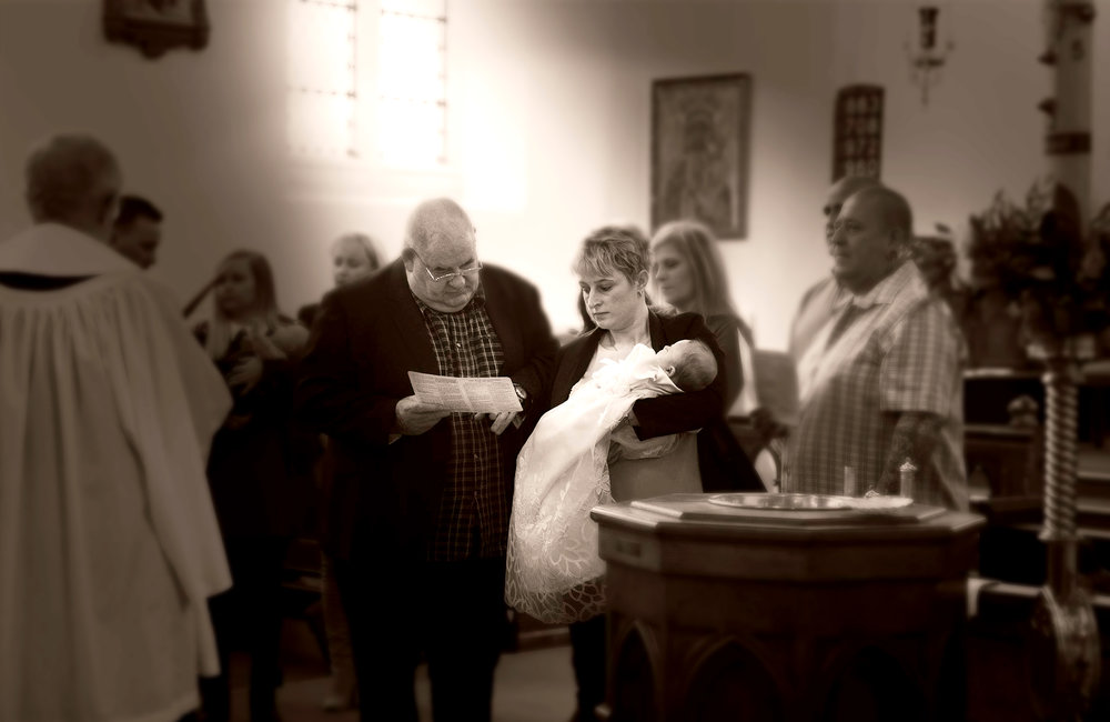 Christenings make for some creative moments in the life of a child