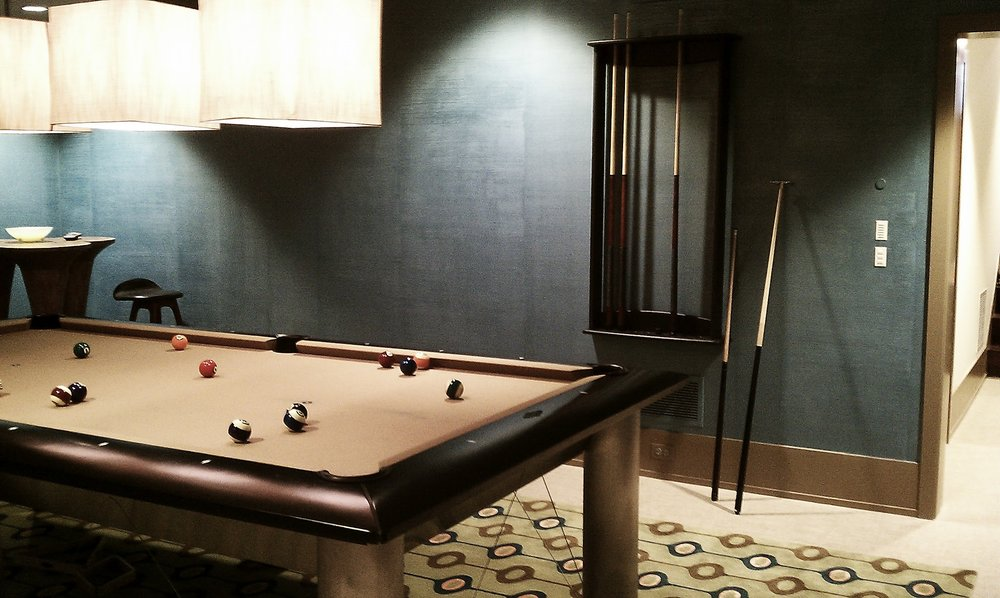 Custom Painted Billiard Room