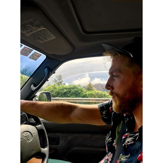 Driving the 4x4 🚘 up the mountain ⛰ and into the clouds ☁️ and listening to Celine Dion because my heart will go on! . . . . . #mountain #clouds #views #borneo #borneoview  #malaysia #travel #travels #travelphotography #beard #beards #beardgang