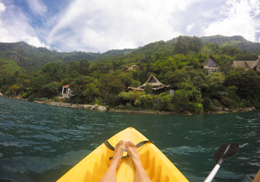 Kayaking to Santa Catarina Palopo