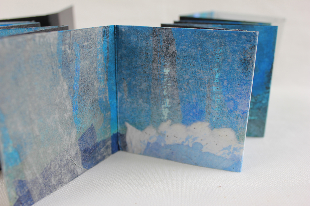 Leah Beggs  - Midnight Walk 2 - Artist Book - Accordian Style - 7.5 x 7.5 x 1.5cm .jpg