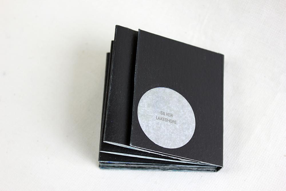 Leah Beggs  - Silver Lakeshore 1 - Artist Book - Accordian Style - 7.5 x 7.5 x 1.3cm .jpg