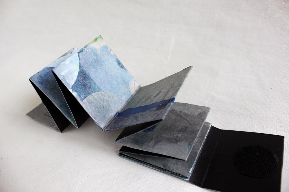 Leah Beggs  - Silver Lakeshore 3 - Artist Book - Accordian Style - 7.5 x 7.5 x 1.3cm.jpg