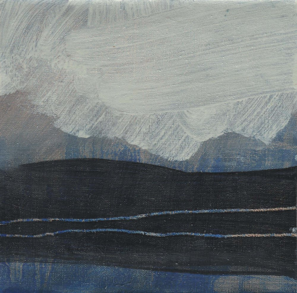 Leah Beggs 2008-Clouds over the Twelve pins- Oil on Unstretched Canvas-18 x 18 cm_sml.jpg