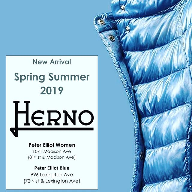 Herno Spring/Summer 2019 collection has arrived at our stores! #herno #springcollection #springjacket #fashion