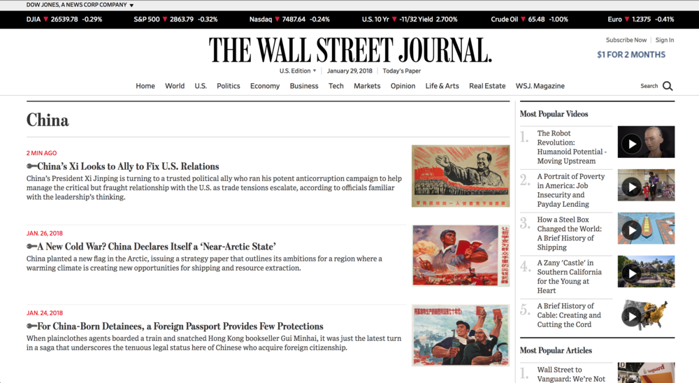 China on WSJ.com