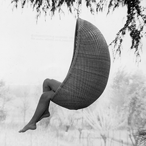 hanging chair. 1957