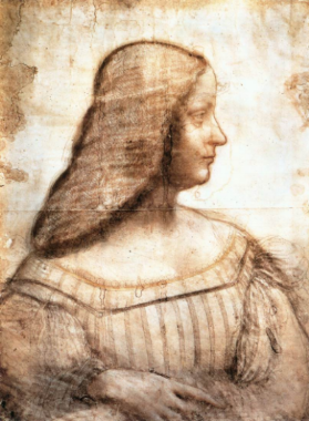 portrait d'isabelle d'este. 1499