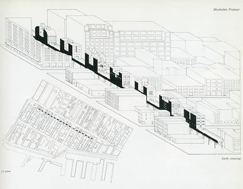 manhattan bridge of houses by steven holl. 1979