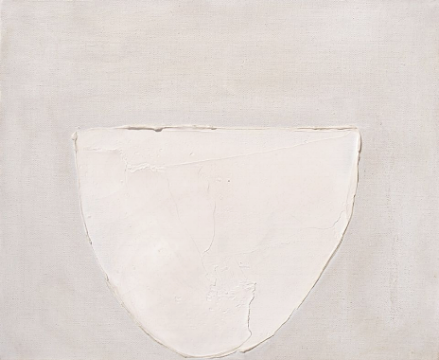 bowl, white on grey. 1962