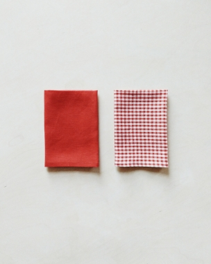 special edition unabashed berry and gridded gingham irish linen napkins