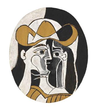 femme au chapeau. 1961
