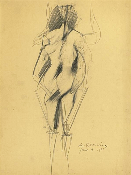 untitled [woman]. pencil on paper. 1955