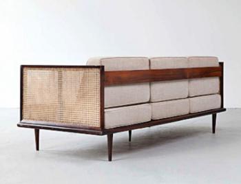 sofa designed for forma, brazil. 1950s.