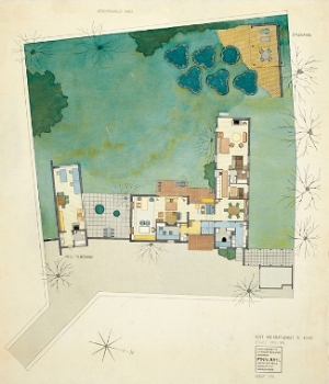 ordrup house rendering. 1968