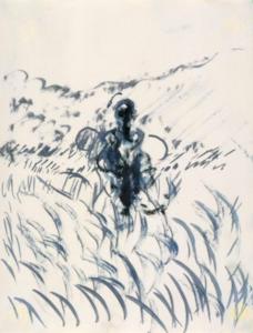 figure in a landscape.1952