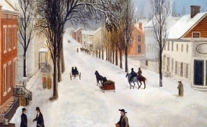 winter scene in brooklyn. 1820