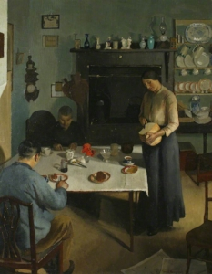 the tea table. 1920