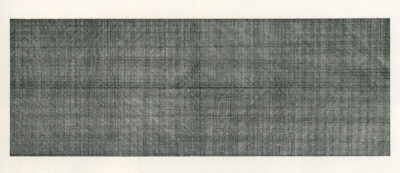 diagonal lines in two directions, superimposed, plan for wall drawing. 1969