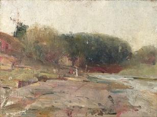 On the River Yarra near Heidelberg Victoria. circa 1890