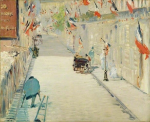 The Rue Mosnier with Flags. 1878
