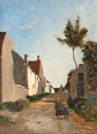 Deux Enfants Dans Un Village. 1865