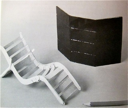 Furniture models in glass and paper 1925
