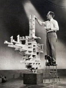 Lecture on balance for Omnibus documentary. 1955
