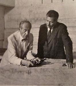 Walter Gropius and Pietro Belluschi. 1950s