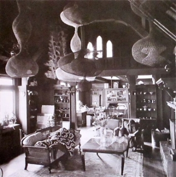 Ruth Asawa and her husband Albert in their living room. 1970s